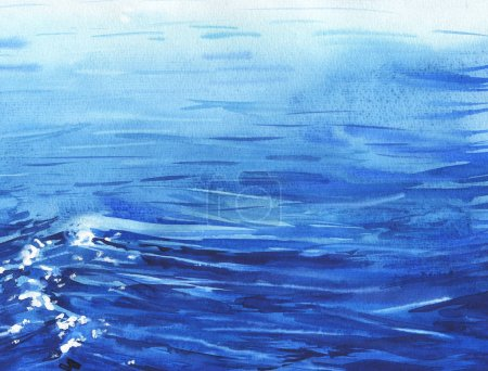 Amazing sea waves blue print