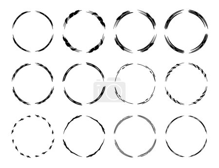 Set of black empy grunge frames.  Vector illustration.