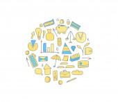 Set of finance elements Vector illustration