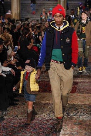 NEW YORK, NY - SEPTEMBER 07: A model walks the run...