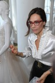 NEW YORK, NY - APRIL 13: Creative Director Alessandra Rinaudo presenting new collection during the Nicole Spring 2020 bridal presentation at New York Fashion Week: Bridal on April 13, 2019 in NYC.