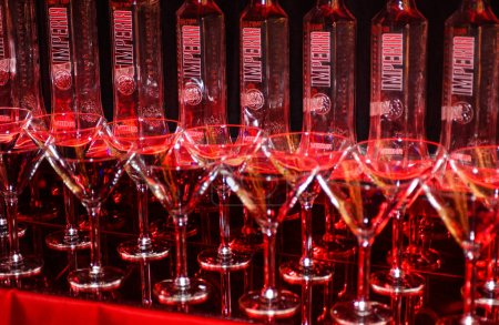 Photo for NEW YORK, NY - NOVEMBER 09: The general atmosphere backstage and bottles of Imperia Vodka in the 2005 Victoria's Secret Fashion Show on November 09, 2005 in New York City. - Royalty Free Image