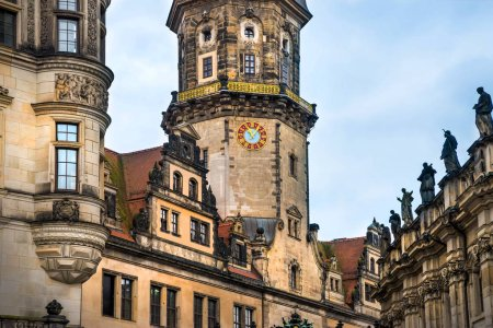 amazing city of Dresden in Germany. European historical center and splendor.