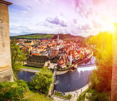 Cesky Krumlov city in Czech Republic. European historical center and splendor.