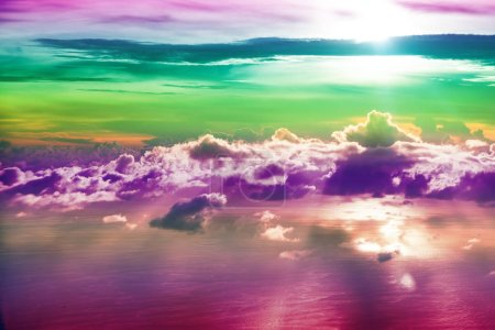 Photo for Creative cloudy sky background with bright colors - Royalty Free Image