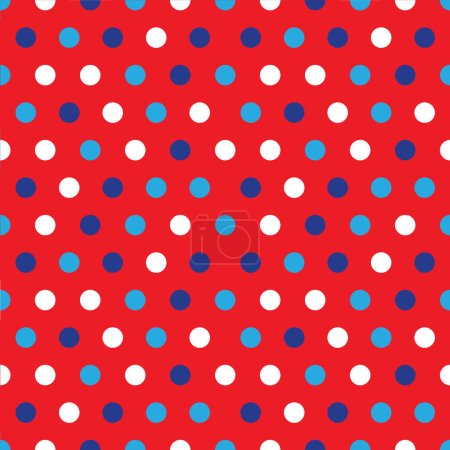 Photo for 4th of July background with colorful circles on red background - Royalty Free Image
