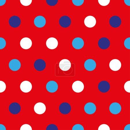 Foto de Fondo del 4 de julio con círculos coloridos sobre fondo rojo - Imagen libre de derechos