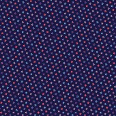 4th of July background with stars on navy blue background
