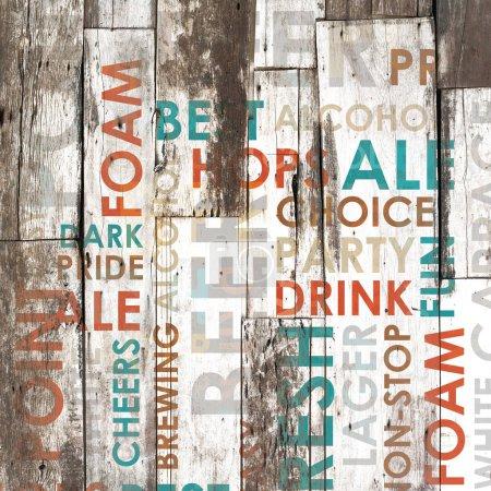 Photo pour Lettrage de menu différents types comme fond grunge - image libre de droit