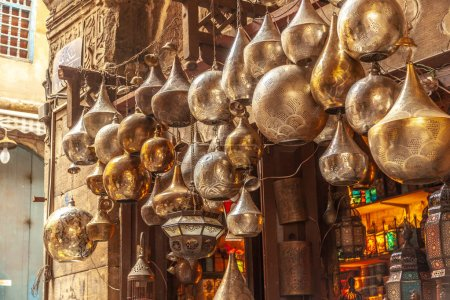 Lamp or Lantern Shop in the Khan El Khalili market in Islamic Cairo