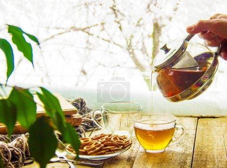 A cup of tea. Comfort.
