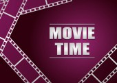 movie strip on pink background vector background