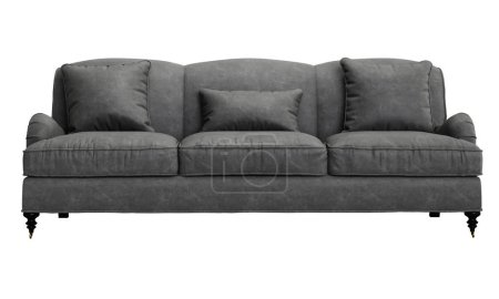 Classic sofa isolated on white background.Digital illustration.3d rendering