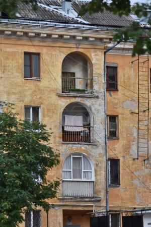Photo pour Beautiful facade of stone historical building - image libre de droit