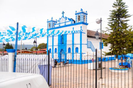 Photo for SAN CRISTOBAL DE LAS CASAS, MEXICO - NOV 1, 2016: Church in San Cristobal de las Casas, town located in the Central Highlands region of the  state of Chiapas, Mexico - Royalty Free Image