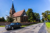 RATHENOW GERMANY AUGUST 17, 2014: Bentley Mulsanne and Continental GT during test drive