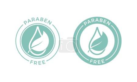 Paraben free vector logo or label icon...