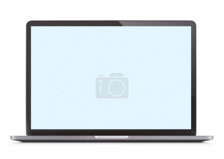 Photo for Single laptop isolated on white background - Royalty Free Image
