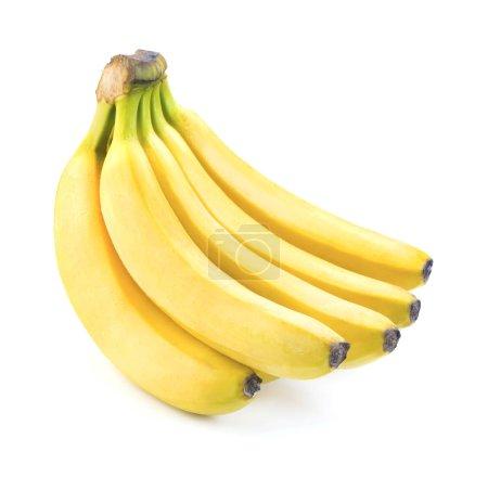 Foto de Solo ramo de frutas banana amarilla madura - Imagen libre de derechos