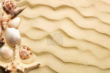 Photo pour Vue de dessus des dunes de sable comme fond texturé vierge - image libre de droit