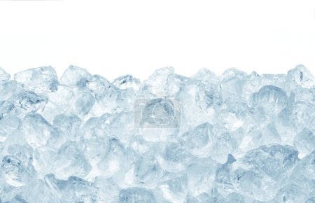 Photo for Heap of ice on white background - Royalty Free Image