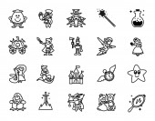 Fairy tales icons set