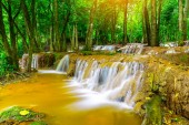 Waterfall in Tropical Rain forest ,Pa Wai Waterfall,Tak Province, Thailand