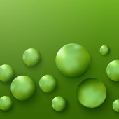 Science banner with green 3d molecules Medical background sphere design Atoms Message place Balloons concept idea