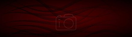 Photo pour Abstract background of wavy intertwining lines in dark red colors - image libre de droit