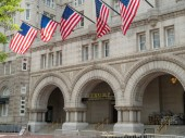WASHINGTON, DC  MAY 15, 2018- Trump International Hotel Washington, D.C. at the Old Post Office Pavilion in the nations capital.