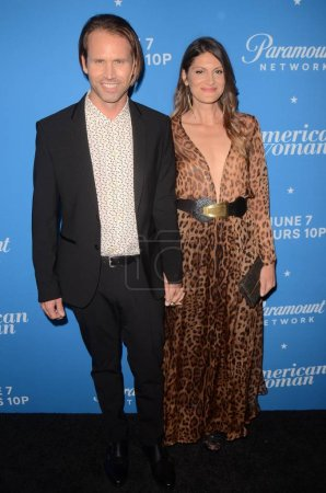 "LOS ANGELES - MAY 31:  Tobias Jelinek, Irena Costa at the ""American Woman"" Premiere Party at the Chateau Marmont on May 31, 2018 in West Hollywood, CA"