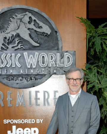 "LOS ANGELES - JUN 12:  Steven Spielberg at the ""Jurassic World: Fallen Kingdom"" Premiere at the Walt Disney Concert Hall on June 12, 2018 in Los Angeles, CA"