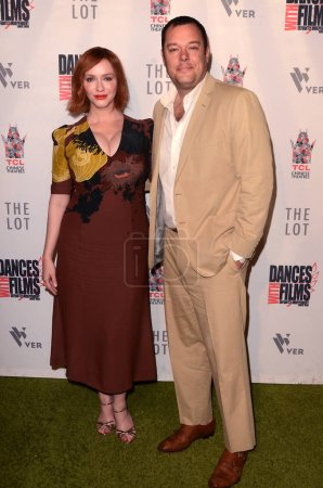 """LOS ANGELES - JUN 16:  Christina Hendricks, Michael Gladis at the """"Antiquities"""" World Premiere Screening at the TCL Chinese 6 Theaters on June 16, 2018 in Los Angeles, CA"""