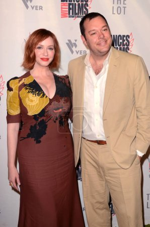 "LOS ANGELES - JUN 16:  Christina Hendricks, Michael Gladis at the ""Antiquities"" World Premiere Screening at the TCL Chinese 6 Theaters on June 16, 2018 in Los Angeles, CA"