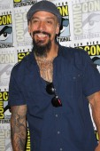 """SAN DIEGO - July 22:  Joseph Lucero at the """"Mayans M.C."""" Press Line at the Comic-Con International on July 22, 2018 in San Diego, CA"""