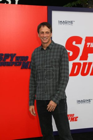 "LOS ANGELES - JUL 25:  Tony Hawk at ""The Spy Who Dumped Me"" Premiere at the Village Theater on July 25, 2018 in Westwood, CA"
