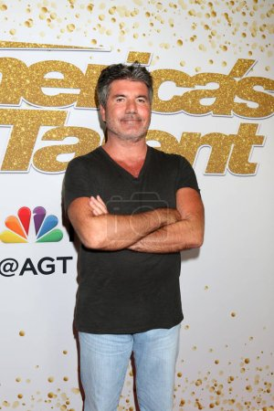 "LOS ANGELES - AUG 14:  Simon Cowell at the ""America's Got Talent"" Season 13 Live Show Red Carpet at the Dolby Theater on August 14, 2018 in Los Angeles, CA"