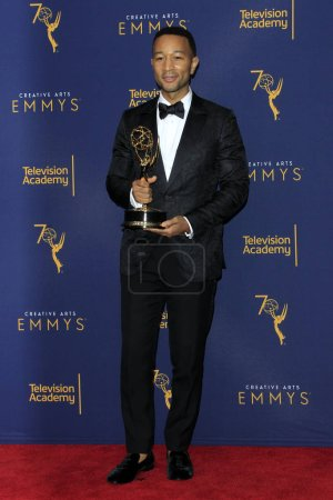 LOS ANGELES - SEP 9:  John Legend at the 2018 Creative Arts Emmy Awards - Day 2 - Press Room at the Microsoft Theater on September 9, 2018 in Los Angeles, CA