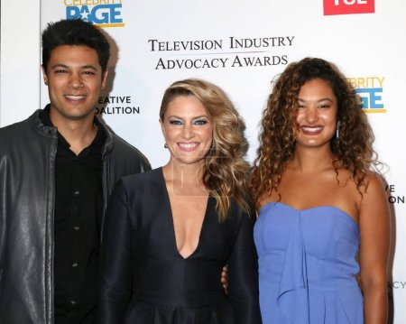 LOS ANGELES - SEP 15:  Sylvester Time Amick-Alexis, Madchen Amick, Mina Tobias Amick-Alexis at the 2018 Television Industry Advocacy Awards at the Sofitel Los Angeles on September 15, 2018 in Beverly Hills, CA