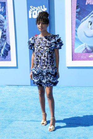 """Photo for LOS ANGELES - SEP 22:  Yara Shahidi at the """"Small Foot"""" Premiere at the Village Theater on September 22, 2018 in Westwood, CA - Royalty Free Image"""