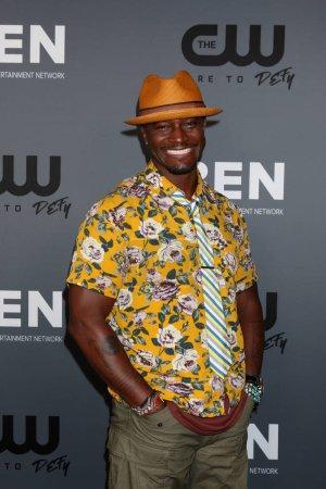 Photo pour LOS ANGELES - 4 AOÛT : Taye Diggs à la CW Summer TCA All-Star Party au Beverly Hilton Hotel le 4 août 2019 à Beverly Hills, CA - image libre de droit