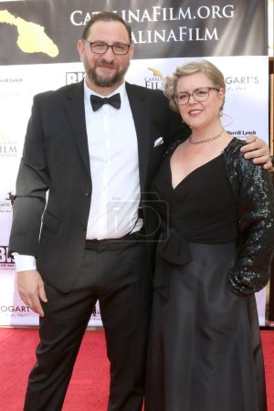 Photo for LOS ANGELES - SEP 28:  James Winters, Kjirsten Winters at the 2019 Catalina Film Festival - Saturday at the Catalina Bay on September 28, 2019 in Avalon, CA - Royalty Free Image