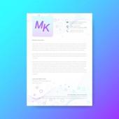 Elegant letterhead template design in minimal style Scientific vector concept