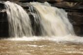 Take pictures of waterfalls at low speed.  Waterfall in northeast of Thailand : samrong kiat waterfall in Khun han, sisaket ,Thailand.