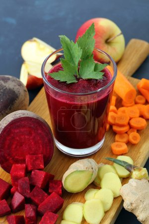 Photo for Fresh fruits and vegetables juice - Royalty Free Image