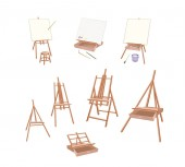 Art Supply Various Size of Empty Wooden Easels for Writing or Sketch and Draw A Picture