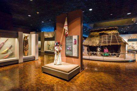 Photo pour MEXIQUE - 26 DÉCEMBRE 2015 : Intérieur du Musée national d'anthropologie de Mexico - le musée le plus visité du Mexique. - image libre de droit