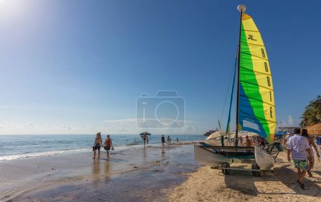Foto de Playa del Carmen, México - 7 de enero de 2016 - La hermosa playa de Playa del Carmen en México. La ciudad cuenta con una amplia gama de actividades turísticas debido a su ubicación geográfica en la Riviera Maya. - Imagen libre de derechos