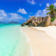 Anse Source d'Argent - Beach on island La Digue in...