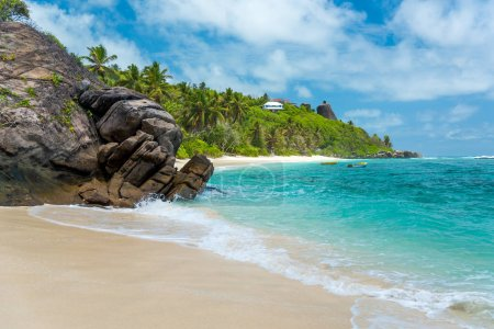 Photo for Anse Forbans - tropical beach in Seychelles, Mahe - Royalty Free Image